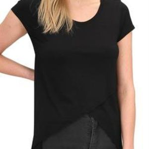 ON SALE! NWT!  DZ Black Cross Front Tee, Size S
